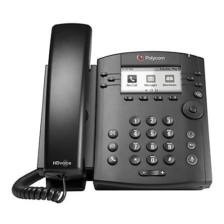 Polycom® VVX® 301 6-Line VoIP Phone, PY-2200-48300-025