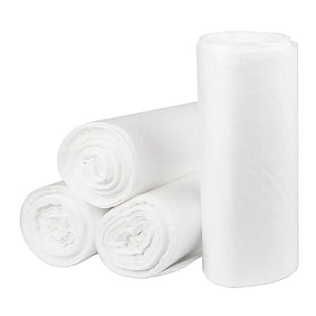 """Inteplast HDPE Can Liners, 22 Microns, 38"""" x 60"""", Natural, Pack Of 150 Liners"""