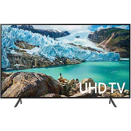 "Samsung RU7100 UN43RU7100F 42.5"" Smart LED-LCD TV - 4K UHDTV - Charcoal Black - Edge LED Backlight - Alexa, Google Assistant Supported - Tizen - Dolby, Dolby Digital"