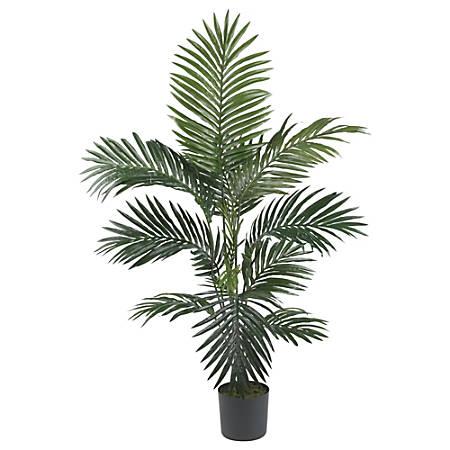 Nearly Natural 4'H Silk Kentia Palm Tree, Green