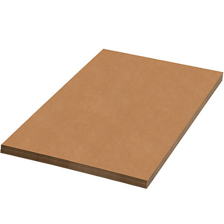 """Office Depot® Brand Corrugated Sheets, 22"""" x 22"""", Kraft, Pack Of 5"""