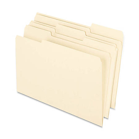 Earthwise® By Oxford® File Folders, Legal Size, 1/3 Cut, 100% Recycled, Manila, Box Of 100