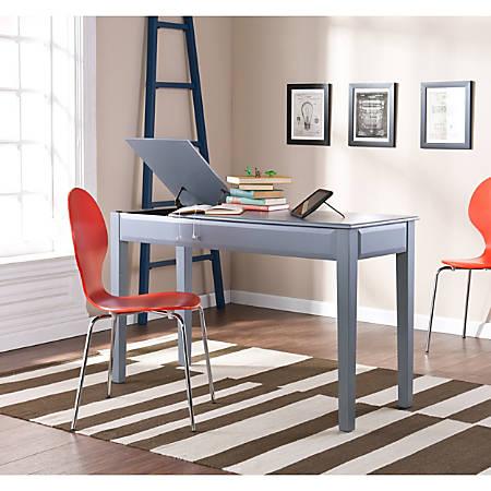 Holly & Martin Uphove Desk, Gray/Black