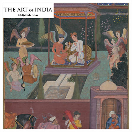 """Retrospect Square Monthly Wall Calendar, The Art Of India, 12-1/2"""" x 12"""", Multicolor, January to December 2019"""