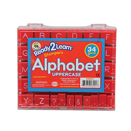 Center Enterprises Ready2Learn Manuscript Alphabet Stamps Set, Uppercase, 1""