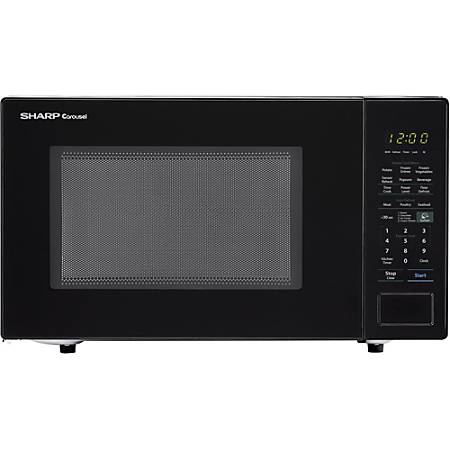 Sharp® Carousel 1.4 Cu Ft Countertop Microwave Oven, Black