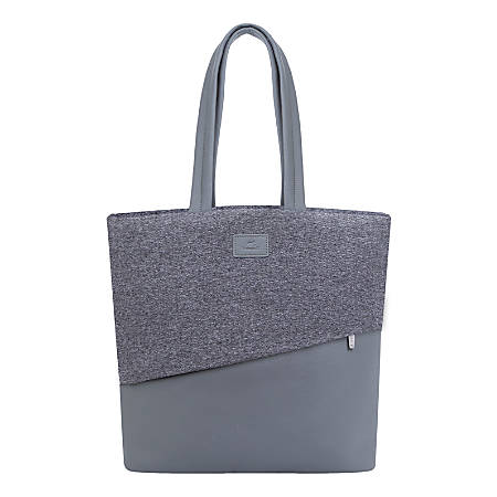 "RIVACASE 7991 Egmont Tweed Tote Bag With 13.3"" Laptop Pocket, Gray"