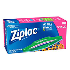 Ziploc Seal Top Snack Bags 6