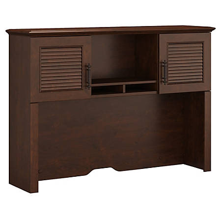 "kathy ireland® Office by Bush Furniture Volcano Dusk Hutch, 51""W, Coastal Cherry, Standard Delivery"