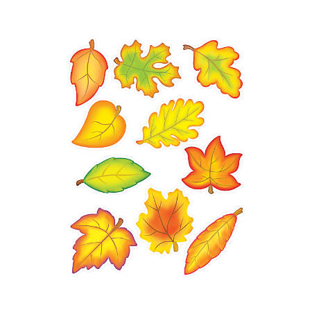 Teacher Created Resources Fall Leaves Accents, Multicolor, Pre-K - Grade 8, Pack Of 30