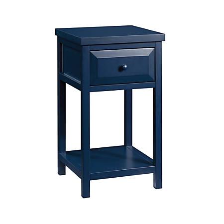 "Sauder® Cottage Road Painted Side Table, 26-1/2""H x 15-3/16""W x 15-3/16""D, Indigo Blue"