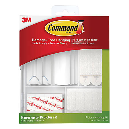 Command™ Picture Hanging Kit, 38-Piece, Assorted Sizes, White