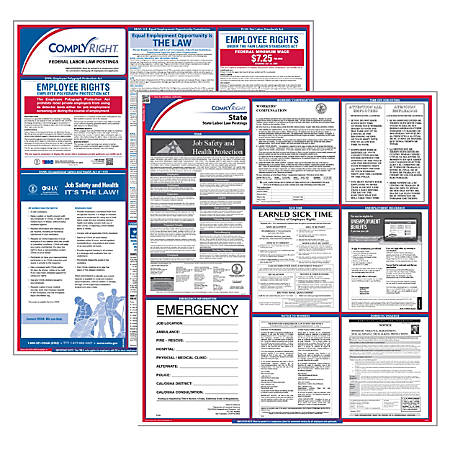 "ComplyRight™ Indiana Federal/State Labor Law Poster Kit, 37"" x 24"""
