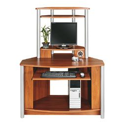 Citadel Corner Computer Desk With Integrated USB Hub 60 1116 H x