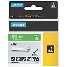 DYMO White 0n Green Color Coded