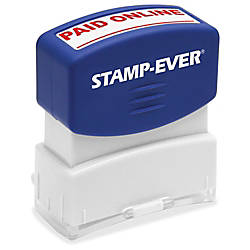 Stamp Ever PAID ONLINE Pre inked
