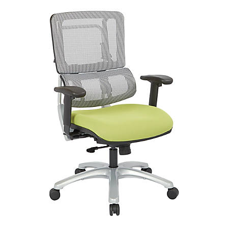 Pro-Line II™ Pro X996 Vertical Mesh High-Back Chair, Gray/Olive/Silver
