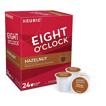 Eight O'Clock® Hazelnut Coffee Single-Serve K-Cup®, Carton Of 24