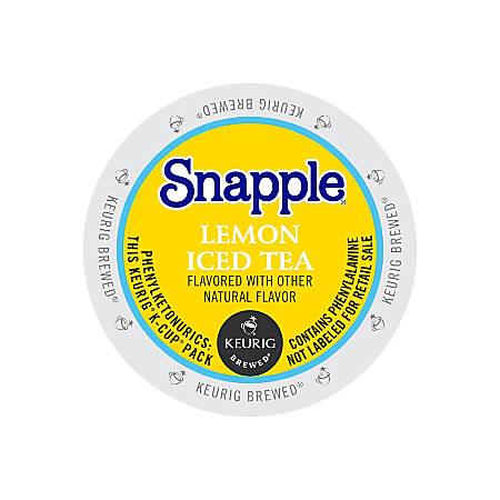 Snapple® Lemon Iced Tea K-Cups®, 0.47 Oz., Pack Of 22