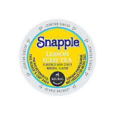 Snapple Lemon Iced Tea K Cups