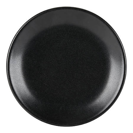 """Foundry Round Coupe Plates, 7 1/8"""", Black, Pack Of 12 Plates"""