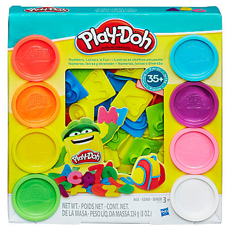 Play-Doh® Number, Letters And Fun Set, Assorted Colors, Case Of 4 Sets