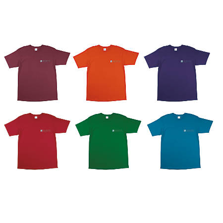 100percent cotton t shirt color by office depot officemax for Office depot shirt printing