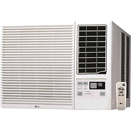 LG 12000 BTU Window Air Conditioner, Cooling & Heating - Cooler, Heater - 3370.32 W Cooling Capacity - 3282.40 W Heating Capacity - 550 Sq. ft. Coverage - Yes - Remote Control - White