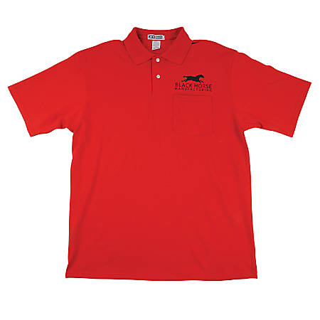 Jerzee® Embroidered 50/50 Polo Shirt