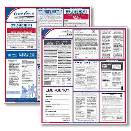 "ComplyRight™ Wisonsin Federal/State Labor Law Poster Kit, 37"" x 24"""
