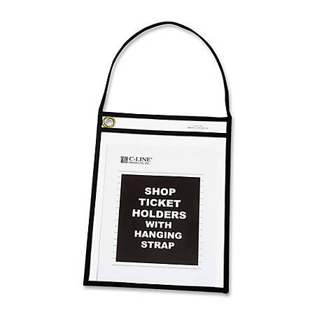 """C-Line Stitched Shop Ticket Holders, 9"""" x 12"""", Clear, Box Of 15"""