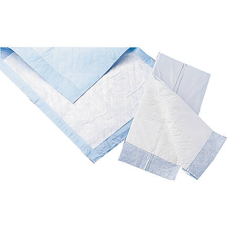 """Protection Plus® Fluff-Filled Disposable Underpads, Quality Economy, 23"""" x 36"""", 5 Underpads Per Bag, Case Of 30 Bags"""