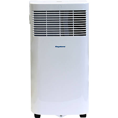 "Keystone Portable Air Conditioner, 8,000 BTU, 24 1/4""H x 13""W x 12 1/2""D, White"
