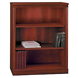 "Office Depot® Brand Traditional Bookcase, 3-Shelf, 44 1/2""H x 35 5/8""W x 12 7/8""D, Harvest Cherry"