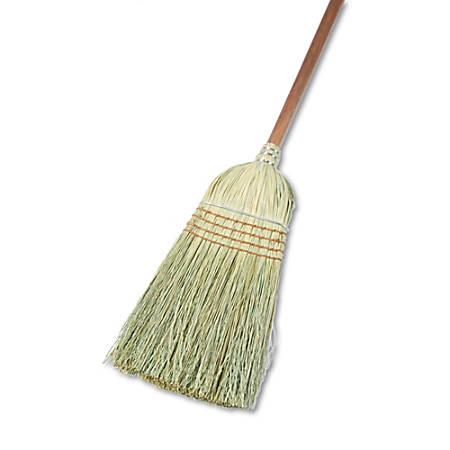 """Boardwalk Yucca Corn Fiber Warehouse Brooms, 56"""", Natural, Pack Of 12"""