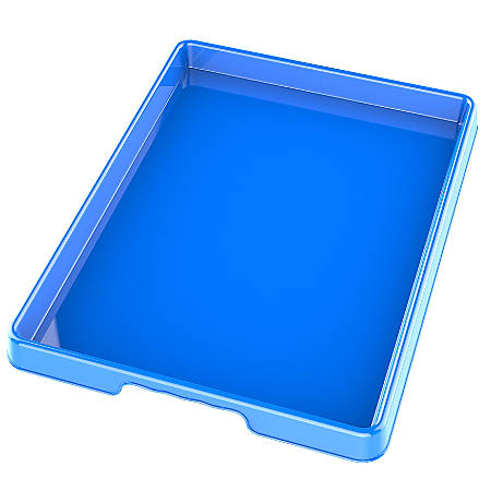"Storex Sorting And Crafts Trays, 12"" x 16"", Assorted Colors, Pack Of 12 Trays"