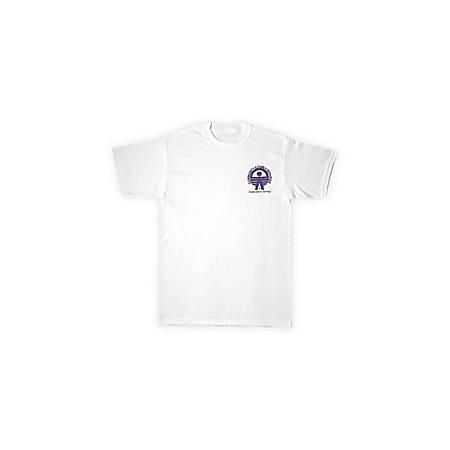 Screened 50/50 T-Shirt, White