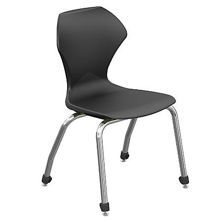 """Marco Group™ Apex™ Series Stacking Chairs, 18"""" Seat Height, Black/Chrome, Set Of 4"""