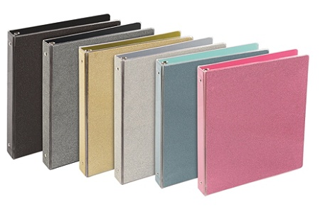 divoga glitter collection binders 1 rings assorted colors by office