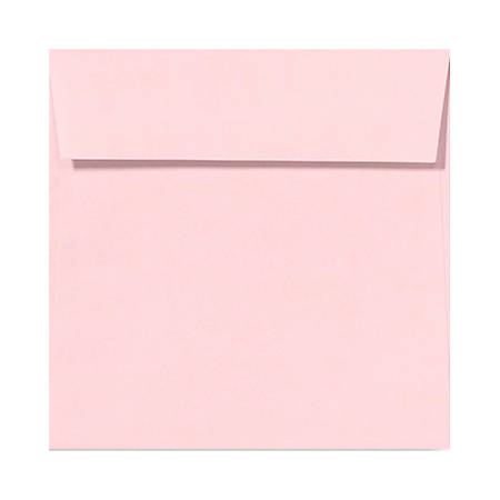 "LUX Square Envelopes With Peel & Press Closure, 5 1/2"" x 5 1/2"", Candy Pink, Pack Of 1,000"