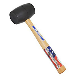 Vaughan® Rubber Mallet With Wood Handle, Black