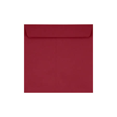 "LUX Square Envelopes With Peel & Press Closure, 7 1/2"" x 7 1/2"", Garnet Red, Pack Of 1,000"