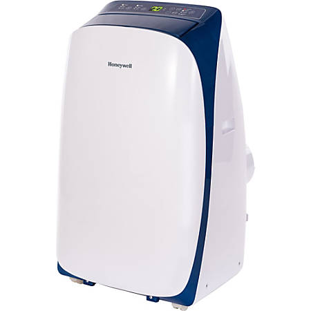 Honeywell 12,000 BTU Portable Air Conditioner with Remote Control - Cooler - 3516.85 W Cooling Capacity - 550 Sq. ft. Coverage - Yes - Washable - Remote Control - White, Blue