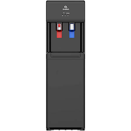 "Avalon Self-Cleaning Bottom-Loading Hot/Cold Water Cooler, 13""H x 12""W x 41""D, Black"