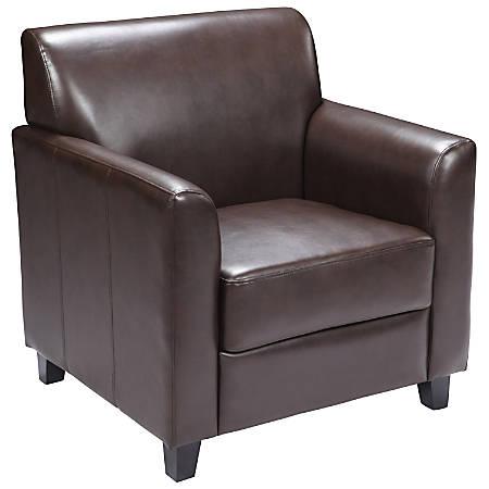 Flash Furniture HERCULES Diplomat Series Leather Chair, Brown