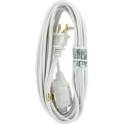 GE Polarized Extension Cord 15 White
