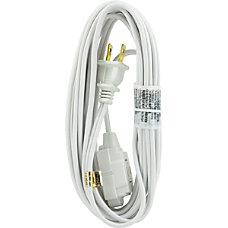 GE Polarized Extension Cord 15 White