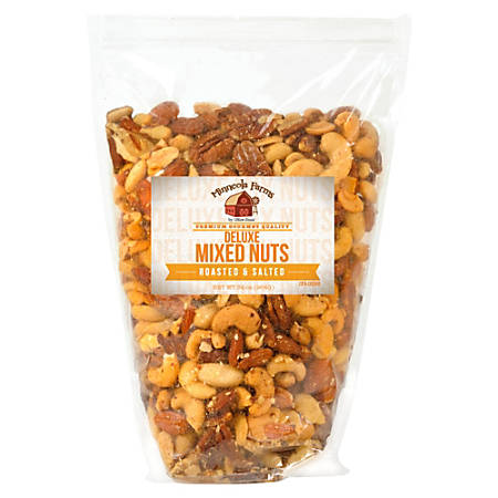 Office Snax Roasted And Salted Mixed Nuts, 34 Oz Bag
