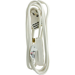 GE Grounded Extension Cord 8 White