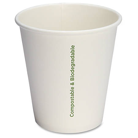Genuine Joe Eco-friendly Paper Cups - 50 - 10 fl oz - 1000 / Carton - White - Paper